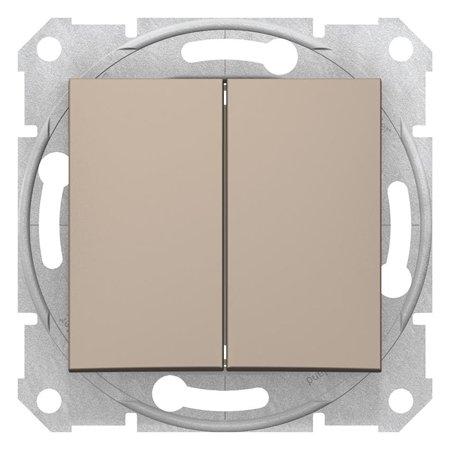 Dvojité tlačítko saténová Sedna SDN1100168 Schneider Electric