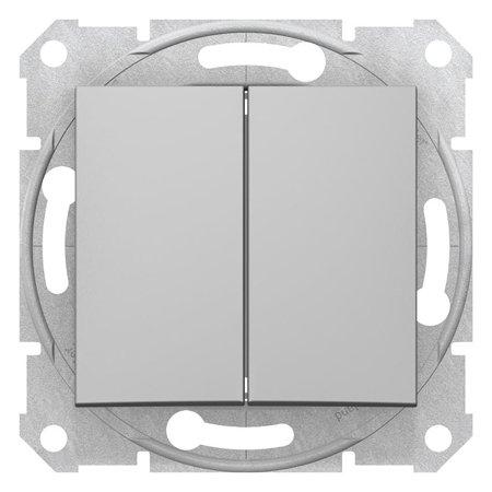 Dvojitý vypínač schodišťový hliník Sedna SDN0600160 Schneider Electric