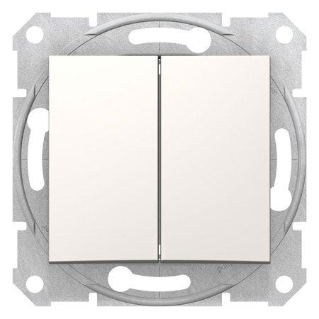Dvojitý vypínač schodišťový krémová Sedna SDN0600123 Schneider Electric