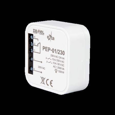 Elektromagnetické relé do krabičky 10A 230V AC PEP-01/230 Exta Zamel