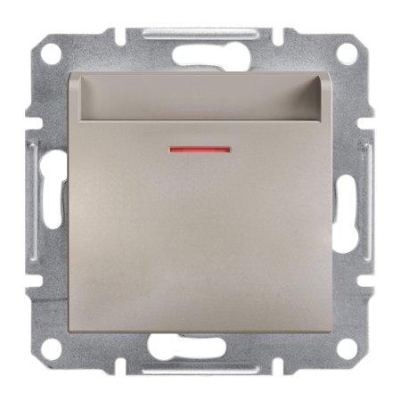 Hotelový vypínač (mechanický) bez rámečku, hnědá Schneider Electric Asfora EPH6200169