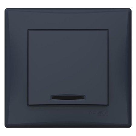 Jednoduchý vypínač s podsvícením grafitová s rámečkem Sedna SDN1400270 Schneider Electric