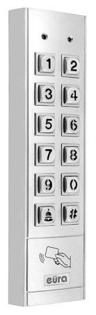 KÓDOVÝ ZÁMEK EURA AC-14A1 - 1 výstup, bezdotyková karta, na omítku, tlačítko zvonku A11A714