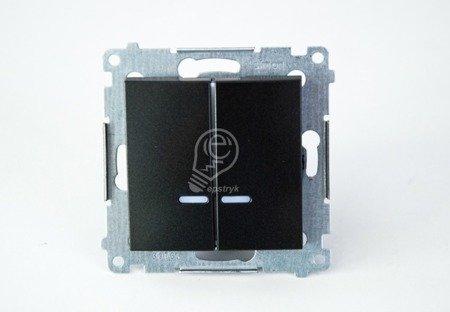 Kontakt Simon 54 Premium Antracit Přepínač sériový s podsvícením LED, pro verzi IP44 DW5BL.01/48