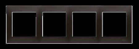 Kontakt Simon 54 Premium Antracit Rámeček 4-násobný univerzální pro sádrokartonové krabice IP20/IP44, DRK4/48