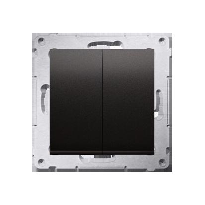 Kontakt Simon 54 Premium Antracit Tlačítko dvojnásobný zkratovací bez piktogramu rychlospojka, DP2.01/48
