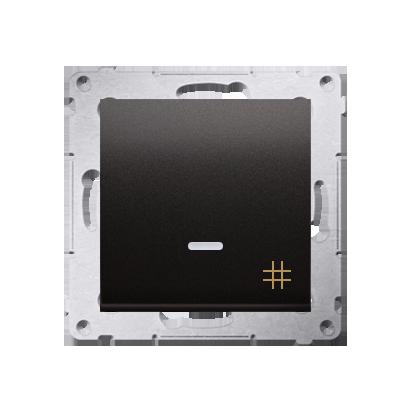Kontakt Simon 54 Premium Antracit Vypínač křížový s podsvícením LED (modul) rychlospojka, DW7L.01/48