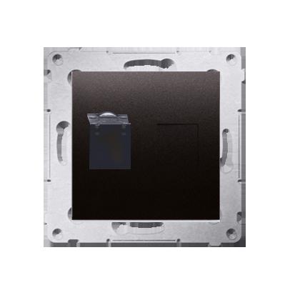 Kontakt Simon 54 Premium Antracit Zásuvka počítačová jednonásobná RJ45 kat. 6 se zaklapávací krytkou D61.01/48