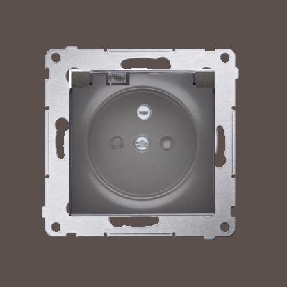 Kontakt Simon 54 Premium Antracit Zásuvka pro verzi IP44 transparentní klapka, DGZ1BZ.01/48A