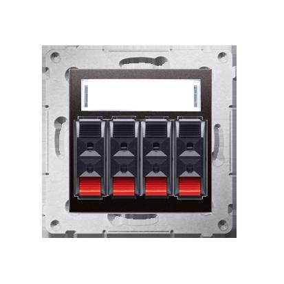 Kontakt Simon 54 Premium Antracit Zásuvka reproduktoru 4-násobná s popisovým pólem (modul) DGL34.01/48
