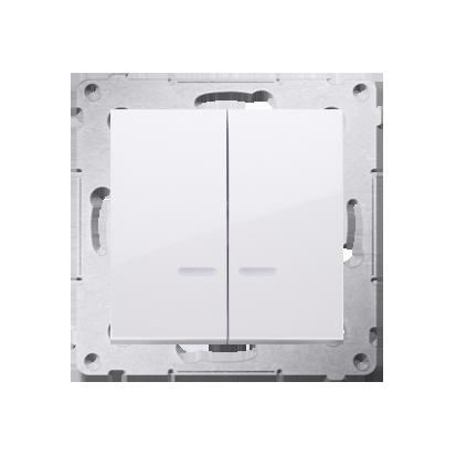 Kontakt Simon 54 Premium Bílý Přepínač sériový s podsvícením LED, pro verzi IP44 DW5ABL.01/11
