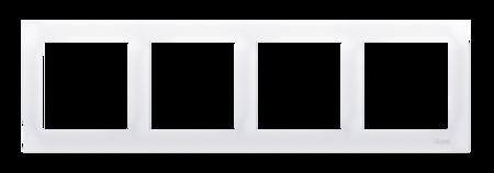 Kontakt Simon 54 Premium Bílý Rámeček 4-násobný univerzální pro sádrokartonové krabice IP20/IP44, DRK4/11