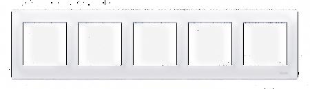 Kontakt Simon 54 Premium Bílý Rámeček 5-násobný univerzální IP20/IP44, DR5/11