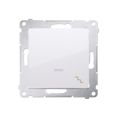 Kontakt Simon 54 Premium Bílý Vypínač schodišťový s podsvícením LED (modul) X šroubové koncovky, DW6AL.01/11