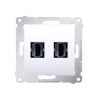 Kontakt Simon 54 Premium Bílý Zásuvka HDMI dvojitá (modul), DGHDMI2.01/11