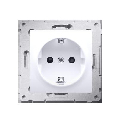 Kontakt Simon 54 Premium Bílý Zásuvka Schuko s clonou (modul) šroubové koncovky, DGSz1Z.01/11