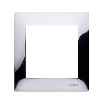 Kontakt Simon 54 Premium Chrom Rámeček 1-násobný univerzální IP20/IP44 DR1/63