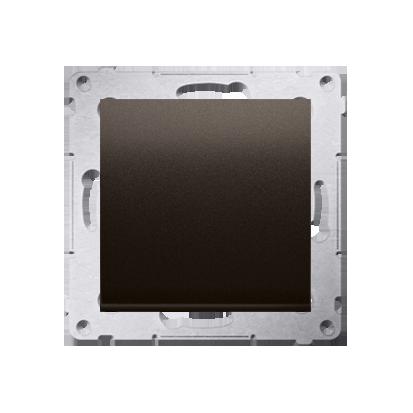 Kontakt Simon 54 Premium Hnědá, matné Tlačítko jednopólové rozkratovací bez piktogramu rychlospojka, DPR1.01/46