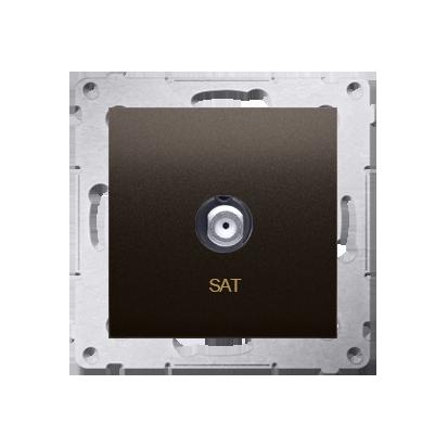 Kontakt Simon 54 Premium Hnědá, matný Anténní zásuvka SAT jednonásobná (modul) DASF1.01/46