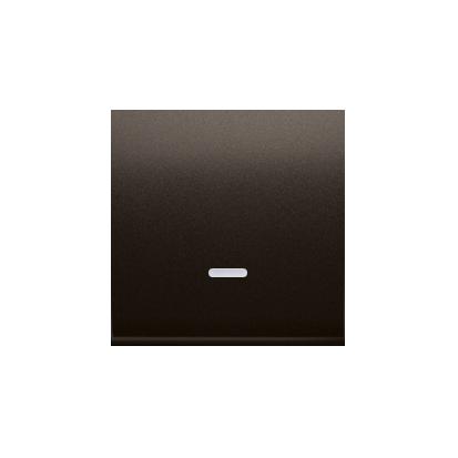 Kontakt Simon 54 Premium Hnědá, matný Jednotná klávesa s očkem pro vypínače/Podsvícené tlačítka, DKW1L/46