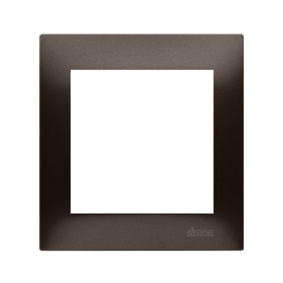 Kontakt Simon 54 Premium Hnědá, matný Rámeček 1-násobný univerzální pro sádrokartonové krabice IP20/IP44, DRK1/46