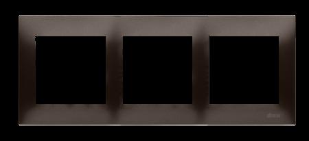 Kontakt Simon 54 Premium Hnědá, matný Rámeček 3-násobný univerzální IP20/IP44, DR3/46