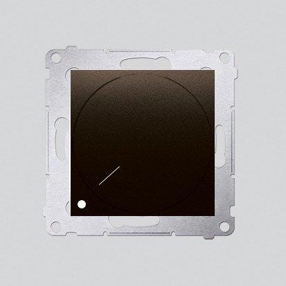 Kontakt Simon 54 Premium Hnědá, matný Stmívač otočný dvoupólový do stmívatelných LED DS9L2.01/46