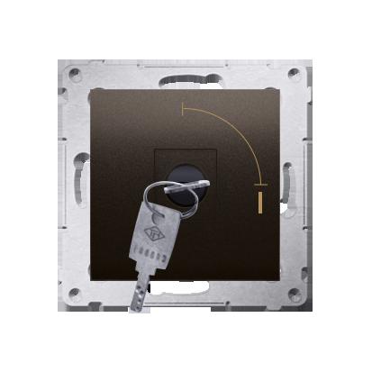 """Kontakt Simon 54 Premium Hnědá, matný Vypínač na klíč jednonásobný 2 pol. """"0-I"""" spínač N/O vyt. klíče v každé pozici, DW1K.01/46"""