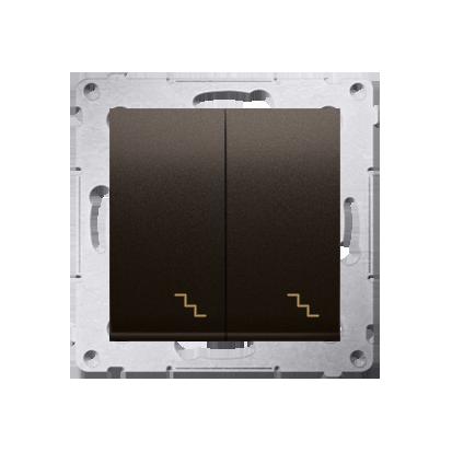 Kontakt Simon 54 Premium Hnědá, matný Vypínač schodišťový dvojnásobný (modul) šroubové koncovky, DW6/2.01/46