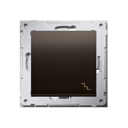 Kontakt Simon 54 Premium Hnědá, matný Vypínač schodišťový (modul) X šroubové koncovky, DW6A.01/46