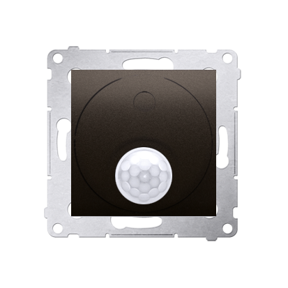 Kontakt Simon 54 Premium Hnědá, matný Vypínač se senzorem pohybu s relé (modul) DCR10P.01/46
