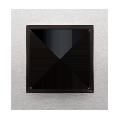 Kontakt Simon 54 Premium Inox Yang - kov Rámeček 1-násobný Nature DRN1/76