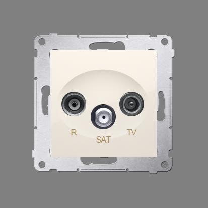 Kontakt Simon 54 Premium Krémová Anténní zásuvka R-TV-SAT koncová/uzavírací (modul), DASK.01/41