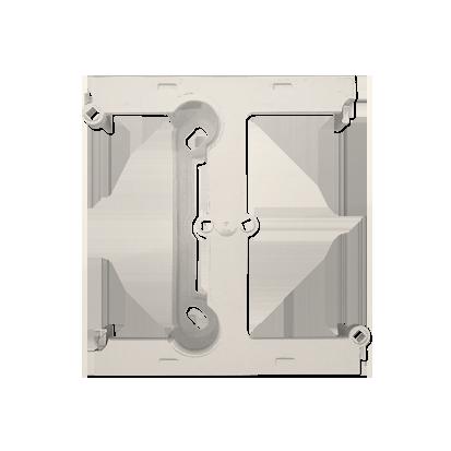 Kontakt Simon 54 Premium Krémová Krabice nástěnná hnebooká (40 mm), rozšiřující díl, DSH/41
