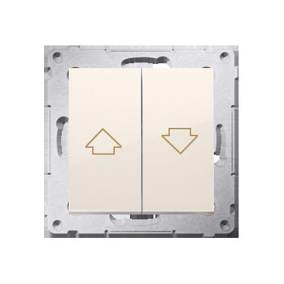 Kontakt Simon 54 Premium Krémová Tlačítko ovládání žaluzií z více míst, šroubové koncovky, DZP1W.01/41