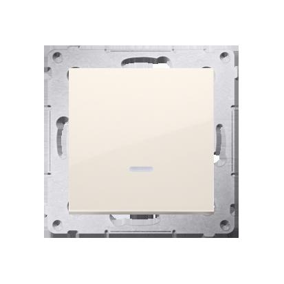 Kontakt Simon 54 Premium Krémová Vypínač jednonásobný s podsvícením LED (modul) rychlospojka, DW1L.01/41