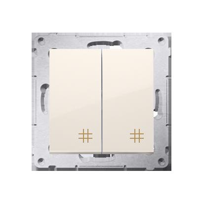 Kontakt Simon 54 Premium Krémová Vypínač křížový dvojnásobný 2 klávesy (modul) ~, DW7/2.01/41