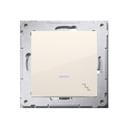Kontakt Simon 54 Premium Krémová Vypínač schodišťový s podsvícením LED (modul) X šroubové koncovky, DW6AL.01/41