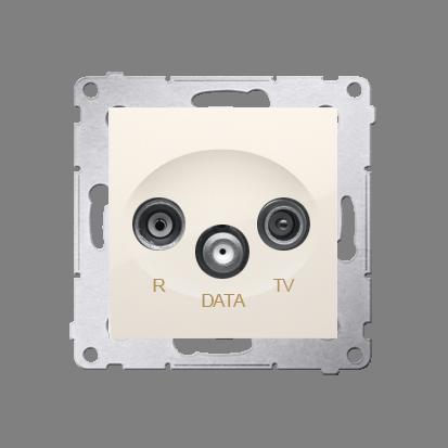 Kontakt Simon 54 Premium Krémová Zásuvka R-TV-DATA (modul), DAD.01/41