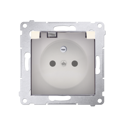 Kontakt Simon 54 Premium Krémová Zásuvka pro verzi IP44 klapka transp, DGZ1BUZ.01/41A