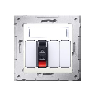 Kontakt Simon 54 Premium Krémová Zásuvka reproduktoru 1-násobná s popisovým pólem (modul) DGL31.01/41