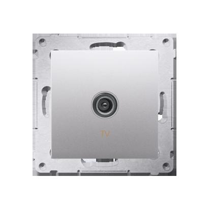 Kontakt Simon 54 Premium Stříbrná Anténní zásuvka TV jednonásobná (modul) DAK1.01/43