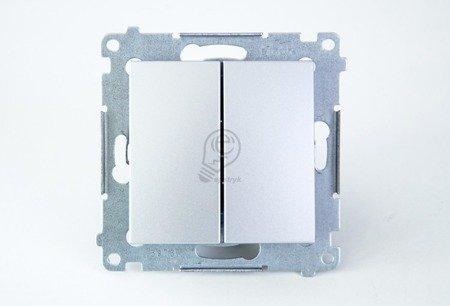 Kontakt Simon 54 Premium Stříbrná Tlačítko dvojnásobný zkratovací bez piktogramu rychlospojka, DP2.01/43