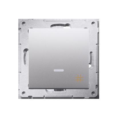 Kontakt Simon 54 Premium Stříbrná Vypínač křížový s podsvícením LED (modul) rychlospojka, DW7L.01/43