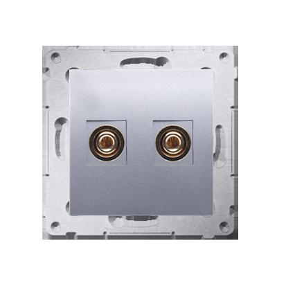 Kontakt Simon 54 Premium Stříbrná Zásuvka reproduktoru jednonásobná (modul) DGL2.01/43