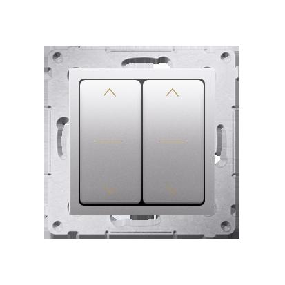 Kontakt Simon 54 Premium Stříbrná dvojnásobný vypínač žaluzii, rychlospojka, DZW2.01/43