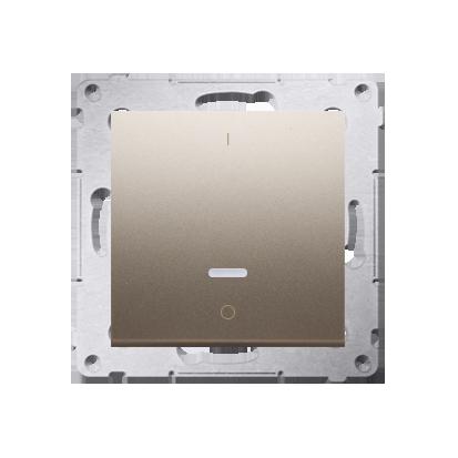 Kontakt Simon 54 Premium Zlatá Vypínač dvoupólový s podsvícením LED rychlospojka, DW2L.01/44