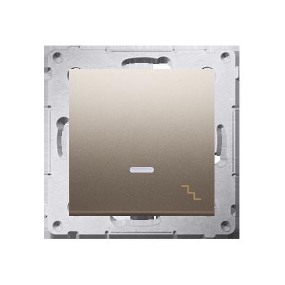 Kontakt Simon 54 Premium Zlatá Vypínač schodišťový s podsvícením LED (modul) X šroubové koncovky, DW6AL.01/44