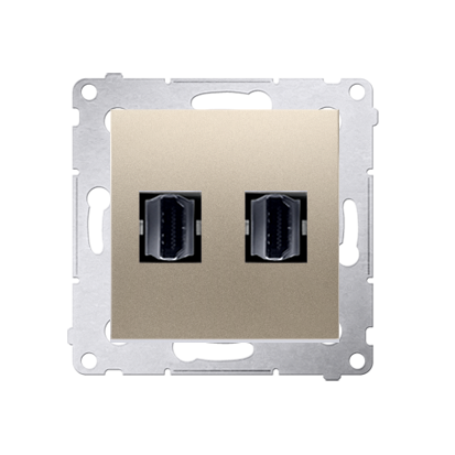 Kontakt Simon 54 Premium Zlatá Zásuvka HDMI dvojitá (modul), DGHDMI2.01/44