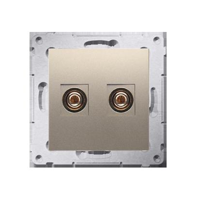 Kontakt Simon 54 Premium Zlatá Zásuvka reproduktoru jednonásobná (modul) DGL2.01/44
